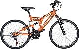 Bici Mountain Bike Biammortizzata Rider Shimano Arancio/Nero 26'' F.LLI SCHIANO