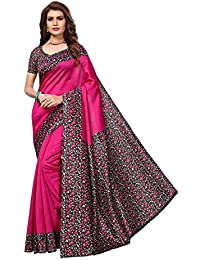 Rhythm Women's Cotton Saree with Blouse Piece Free SIze (Blue)