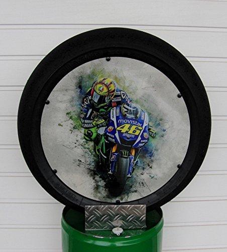 "Valentino Rossi, ""Art"", VR 46, Moto GP/Superbike Slick (Deko), Motorsport Geschenk,"