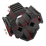 hongbest 20mm Picatinny Weaver Track Jagd Zubehör dreispurige Taschenlampe Laser oszilloskop Basis