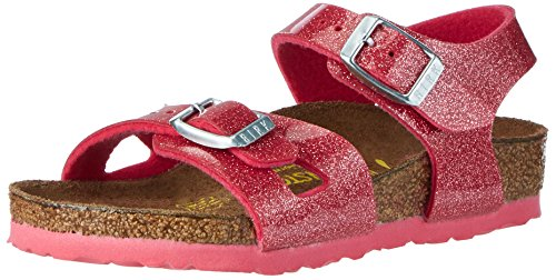 BIRKENSTOCK Mädchen Rio Riemchensandalen, Pink (Magic Galaxy Bright Rose), 38 EU -