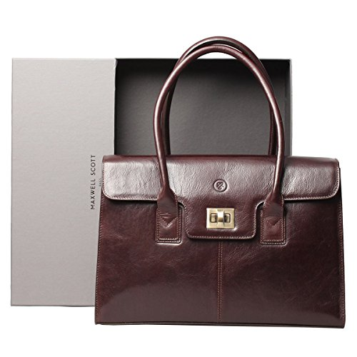Maxwell Scott Bags, Borsa a spalla donna Night Black Taglia unica Marrone scuro