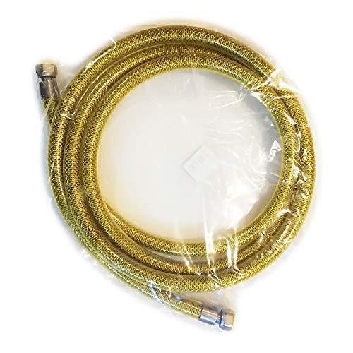 Tubo flessibile acciaio inox laccio gas per gpl e metano 1/2 FF femmina femmina cucina (300cm)