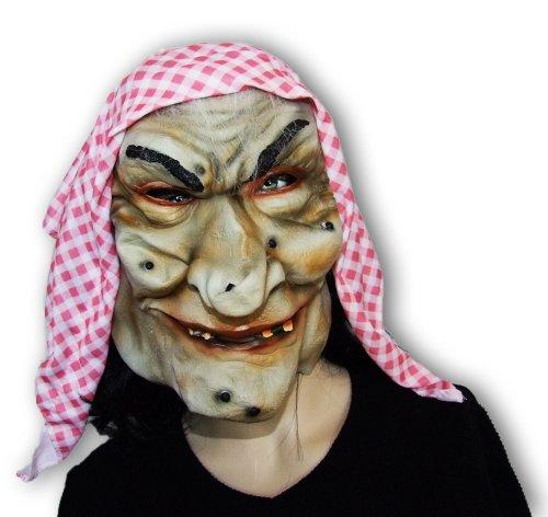 (Hexen Grusel Maske - Toll zum Hexenkostüm für Theater, Halloween und Fasching)