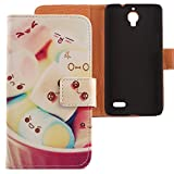Lankashi PU Case Cover Skin Etui Flip Housse Cuir Coque Protection Pour Bouygues Telecom BS 471 Lovely Design