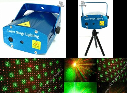 SHOPEE Mini Laser Projector Stage Lighting Sound Activated Laser Light for Party and DJ  available at amazon for Rs.599