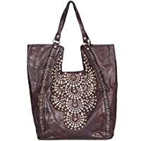 Campomaggi Women's C000010NDX0028 Brown Leather Tote