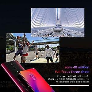 "Xiaomi Mi 9T Pro Smartphone,6GB+128GB, Pantalla AMOLED Full-Screen de 6,39"" (Qualcomm SD 855, Selfie Pop-up, Triple Cámara de 13 + 48 + 8 MP, 4000 mAh, con NFC(Versión Global) (Rojo)"