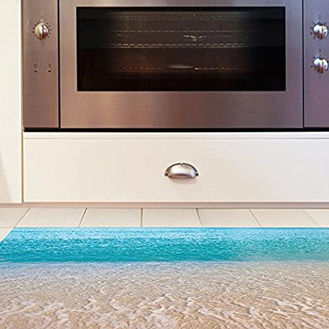 Decorative 3D (Beach) affixed to the living room, anti-skid wear-resistant