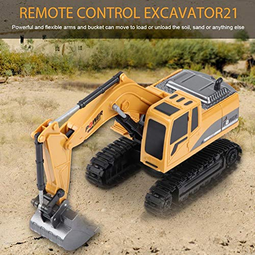 RC Kettenfahrzeug kaufen Kettenfahrzeug Bild 1: Fernbedienung Bagger, 2,4 GHz 6 Kanäle Fernbedienung Bagger LKW 1/24 RC Engineering Auto Baufahrzeug Spielzeug Geschenk für Kinder*
