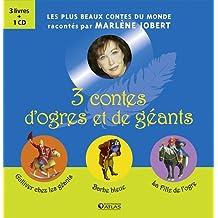 Coffret 3 contes d'ogres et géants : Gulliver chez les géants ; Barbe bleue ; La Fille de l'ogre (1CD audio)