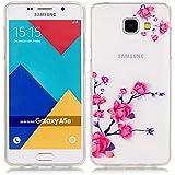 Pour Samsung Galaxy A5(2016)SM-A510F Coque,Ecoway Housse étui en TPU Silicone Shell Housse Coque étui Case Cover Cuir Etui Housse de Protection Coque Étui Samsung Galaxy A5(2016)SM-A510F –XS fleur