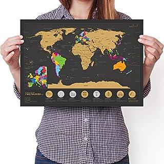 Enno Vatti Rubbel Weltkarte A3 (Deutsch) - Personalisiertes Poster um Reisen zu verfolgen - Zeigen Sie Ihre Abenteuer!