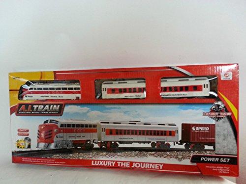 Großes Kinder Eisenbahnset Eisenbahn Zug Set (Batterie) mit Schienen ca 92cm