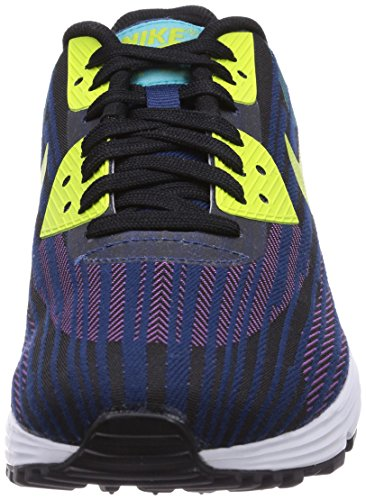 Nike Air Max Lunar90 Jcrd, Chaussures de running adulte mixte Multicolore (Black/Frc Grn-Dsty Ccts-Brv Bl)