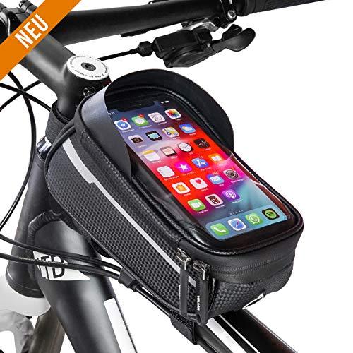 Rahmentasche Fahrrad - Fahrrad Rahmentasche wasserdicht - Fahrradtasche Rennrad - MTB Rahmentasche - Smartphone Tasche Fahrrad - Fahrrad Tasche Handy - Rahmentasche Oberrohr - Fahrradtasche MTB