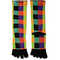 Injinji Socks Run Lightweight Crew Womens Running Toe Socks - Patches
