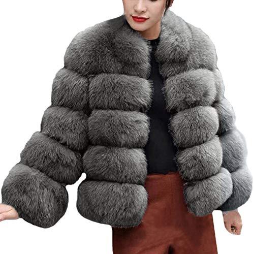 Qmber Faux Pelz Mäntel Damen Pelzmantel Felljacke Jacke warme Plüschmantel lose Teddyfell Parka Elegant Luxus Kunstpelz Faux Kunstfell Overcoat, Faux Fur Hooded Autumn Winter (DG2,X-Large)