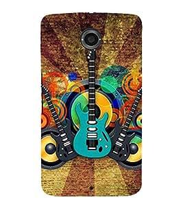 For Motorola Nexus 6 :: Motorola Nexus X :: Motorola Moto X Pro :: Motorola Google Nexus 6 beautiful guitar ( guitar, nice guitar, beautiful guitar, music , music guitar ) Printed Designer Back Case Cover By Living Fill