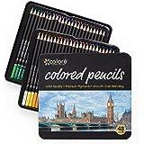 Colore Matite colorate - Set di 48 pastelli pre-temperati di alta qualità per disegnare e colorare – Ideali per la scuola, per adulti e bambini - 48 colori