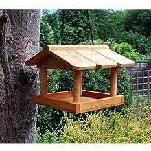 Ram® Wooden Hanging Bird Feeder House Feeding Station