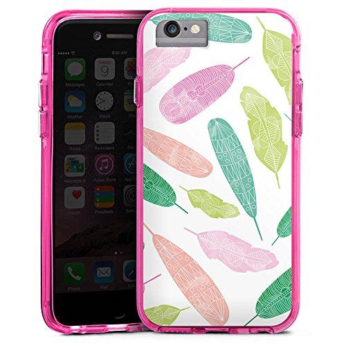 Apple iPhone X Bumper Hülle Bumper Case Glitzer Hülle Wasserfarbe Watercolour Bunt Bumper Case transparent pink