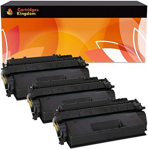 Cartridges Kingdom Pack de 3 Cartuchos de tóner láser compatibles con HP CE505X 05X para HP LaserJet P2050 P2053 P2053D P2053N P2054 P2054D P2054N P2055 P2055D P2055DN P2055X P2056 P2056D P2057 P2057N