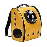 JIALUN-Haustier-Produkte Space Capsule Carrier Respirant Pet Sac À Dos Voyage Portable Pet Bag pour Chat/Chien et autres animaux de compagnie, Taille: 32 * 29 * 42cm (Couleur : Jaune)