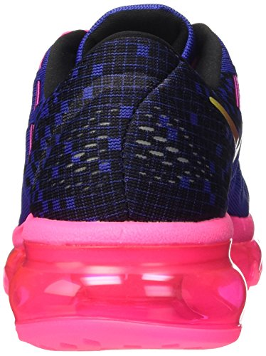 Nike Air Max 2016 Print (Gs), Chaussures de Sport Fille Multicolore - Negro / Rosa / Verde (Deep Night / Black-Pnk Blast-Vlt)