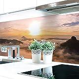 Küchenrückwand Alpen Sonne Premium Hart-PVC 0,4 mm selbstklebend 280x60cm