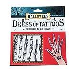 Runfon Halloween Terrorist Tattoo Sticker Skeleton 1 Pack