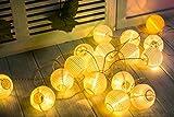 Gresonic 20er LED Lichterkette Lampion/Laternen Deko für Garten Weihnachten Party Hochzeit Innen und Außen mit dem Stecker...