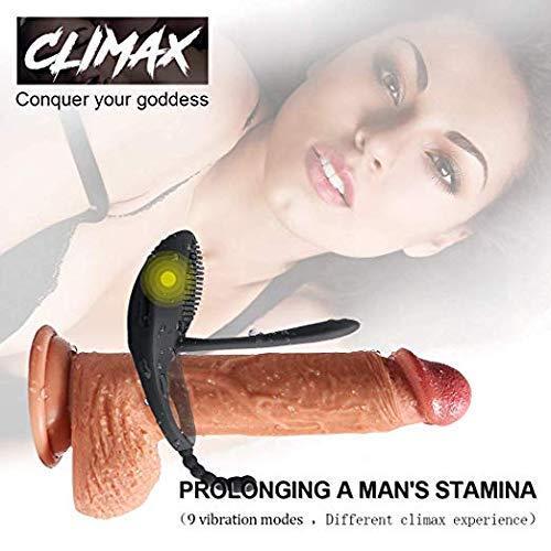 SXB-Love Rings Vibradors für Männer Zeit ed Tongue Extender Anhaltende Ringe Mens Funny Toys für Männer