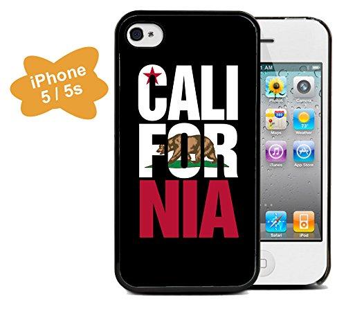 Coque silicone BUMPER souple IPHONE 5/5s - California californie motif 4 DESIGN case+ Film de protection OFFERT