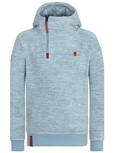 Naketano Male Hoody Onanier mir Hier III dusty blue melange