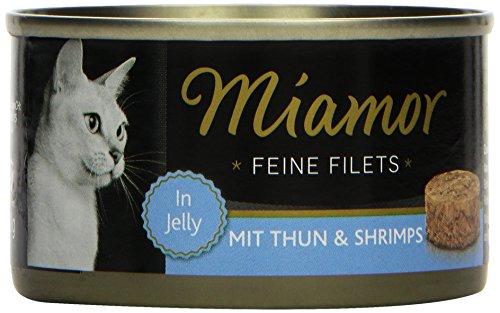 Miamor Katzenfutter Feine Filets Thunfisch+Schrimps 100 g, 24er Pack (24 x 100 g)
