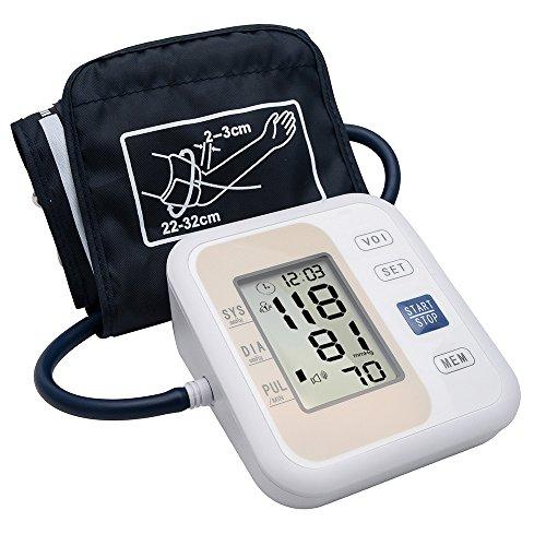 Digitales Blutdruckmessgerät, Automatische Oberarm Blutdruckmessgerät für Zuhause mit Sprachlesung, 2 Benutzer-Modi, Automatische Herzfrequenz Monitore mit LCD Display und großer Manschette