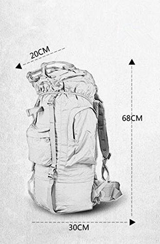 GOUQIN Outdoor Rucksack Klassische Mode Klettern Taschen Rucksäcke Travel Dual Schulter Taschen Outdoor Masse 70 L Berg Tourismus Pakete Braun