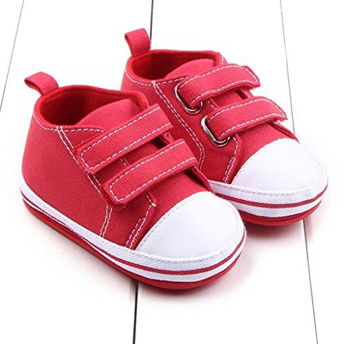 Bzline® Criança Sola Sapatilha Jovem Sapatos Menina Lona Macia Vermelha ddrwqv