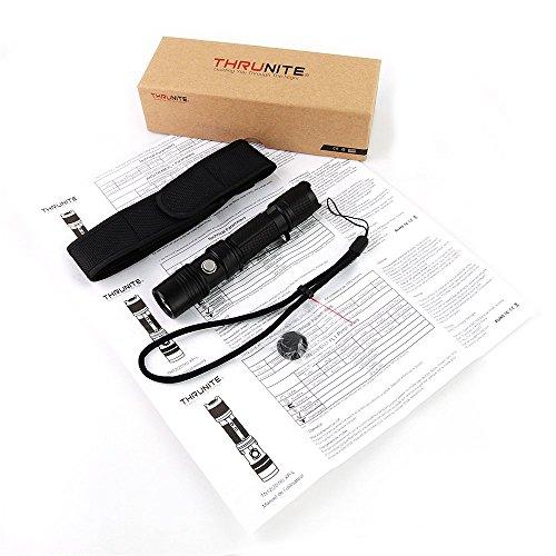 ThruNite® TN12 2016 XP-L Max 1100 Lumen EDC Die Outdoor-Taschenlampe fuer jedermann! Unser Dauerbrenner! Viel Lumen fuer wenig Geld. Einfache Handhabung, kompakte Abmessungen, wasserfest, Strobe, 5-Betriebsstufen mit 'Memory', hochwertiges Zubehoer. Werte, die fuer sich sprechen. Die preiswerteste und leistungsfaehigste Alltagslampe derzeit am Markt! (TN12 XP-L KaltWeiß) - 9
