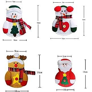 Momorain Calcetín navideño Bolsa de Regalo Cena Mesa Cuchillo Tenedor Tenedor Cubiertos Bolsillo Decoraciones navideñas Artículos de Fiesta