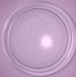 Mikrowellenteller / Drehteller / Glasteller für Mikrowelle # ersetzt Miele Mikrowellenteller # Durchmesser Ø 24,5 cm / 245 mm # Ersatzteller # Ersatzteil für die Mikrowelle # Ersatz-Drehteller # OHNE Drehring # OHNE Drehkreuz # OHNE Mitnehmer