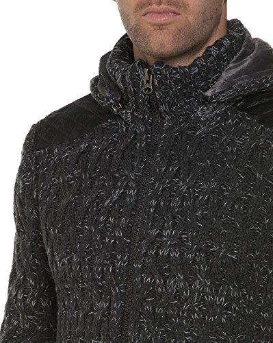 BLZ jeans - Anthrazitgrau Pelzweste mit Reißverschluss Grau