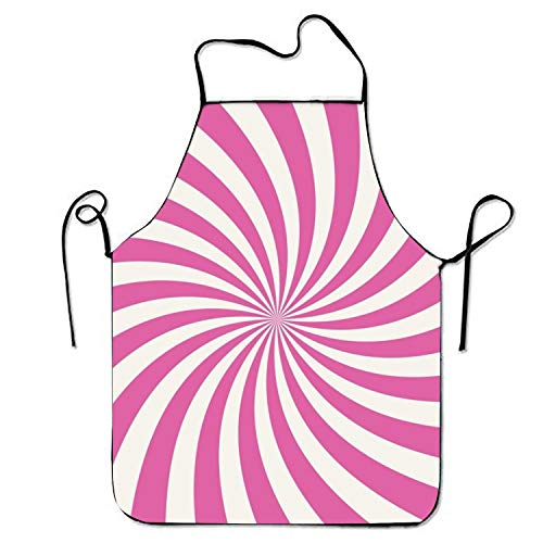 Fs2A1X Swirling Radial Sweetheart Chef Kitchen Apron Stitched Edges -