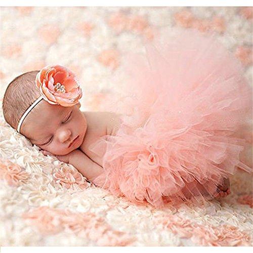 s Baby Rock Tutu Kleidung Trikot Kostüm Foto Prop Outfits Bekleidung Set (Hellrosa) (Babys Halloween-outfits)