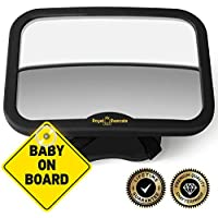 Royal Rascals - Baby Car Mirror for Backseat - Safest Shatterproof Baby Mirror for Car - Rear View Baby Car Seat Mirror to See Rear Facing Infants and Babies