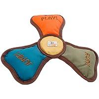 leo.toys Hundespielzeug Frisbee, 3 Quietscher, schwimmfähig