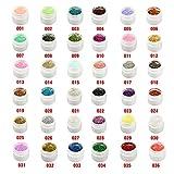 Bluelover 36 Töpfe 36 Farben glitter UV Gel Builder Nail Art Polnisch-36 Töpfe