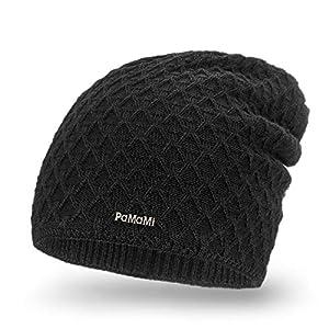PaMaMi Damen Wintermütze | warme Strickmütze | Gestrickte Weiche Mütze | Slouch Beanie Hergestellt in EU | Farbenauswahl 18553