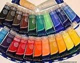 24 KÜNSTLERFARBEN Acrylfarben je 250 ml, komplettes MEGA-SPARSET, original MAGI Farben